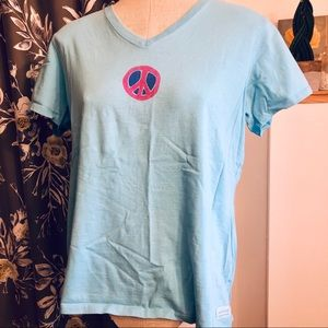 3/$10 // LIFE IS GOOD Peace Sign Tee